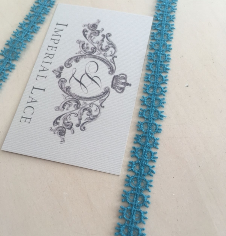 Turquoise lace trimming. Photo 5