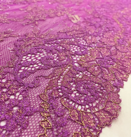 Violet with gold lace trim. Photo 1
