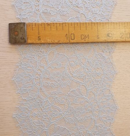 Light blue floral pattern chantilly lace trimming. Photo 10
