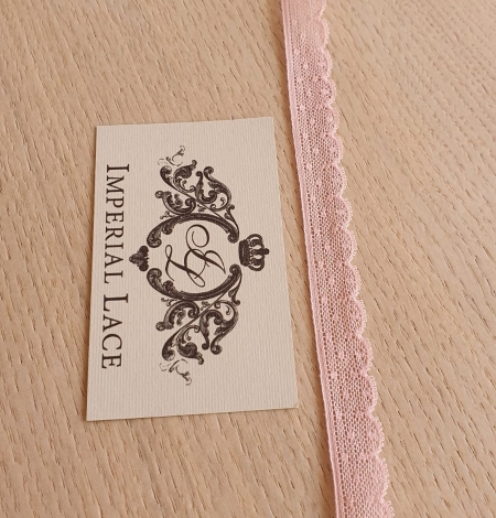 Baby pink chantilly lace trimming. Photo 4