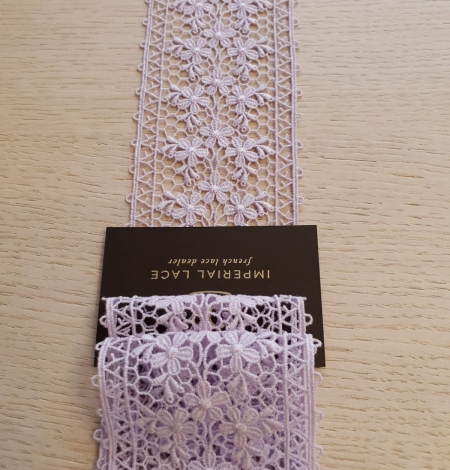 Lilac guipure lace trimming. Photo 4