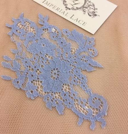 Blue guipure lace applique . Photo 1