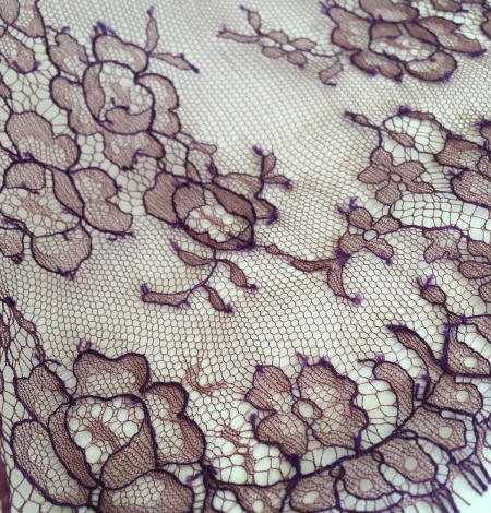 Cordovan with lilac thread lace trim. Photo 2