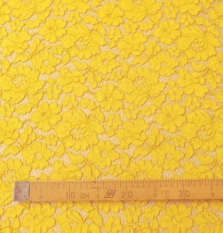 Yellow guipure lace fabric. Photo 7