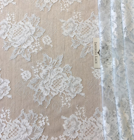 Light blue lace fabric. Photo 2