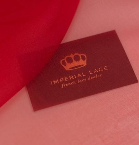 Red silk organza fabric . Photo 8