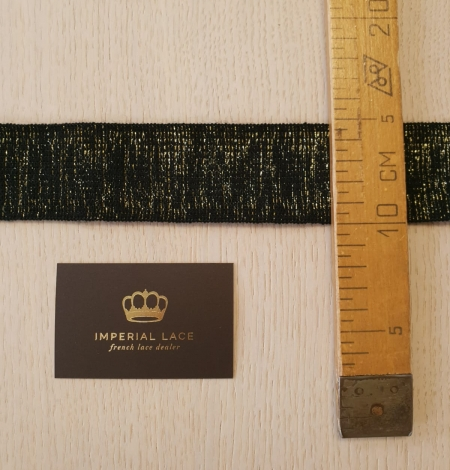 Black with gold rubber ribbon application. Photo 7
