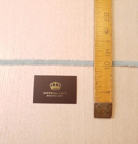 Mint green wool grosgrain ribbon application. Photo 8