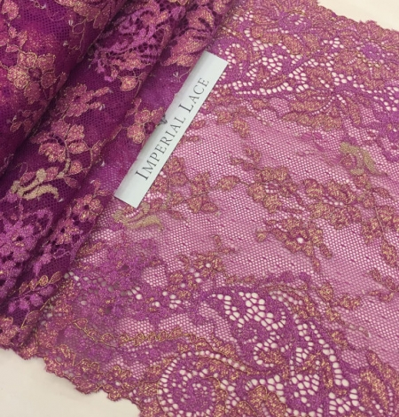 Violet with gold lace trim. Photo 2