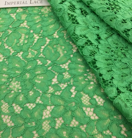 Apple Green Lace Fabric. Photo 1