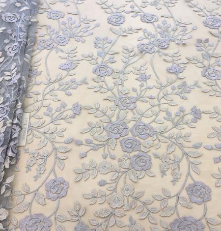 Multicolored 3D lace fabric . Photo 2