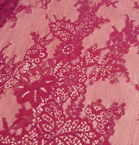 Dark red lace fabric. Photo 4