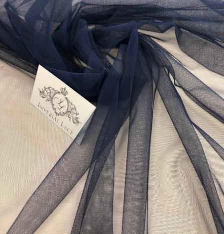 Dark blue tulle fabric. Photo 5