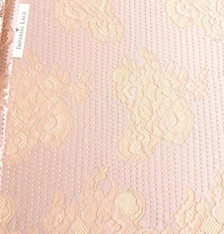 Powder color lace fabric . Photo 2