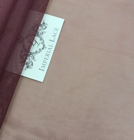 Bordo red tulle fabric. Photo 3