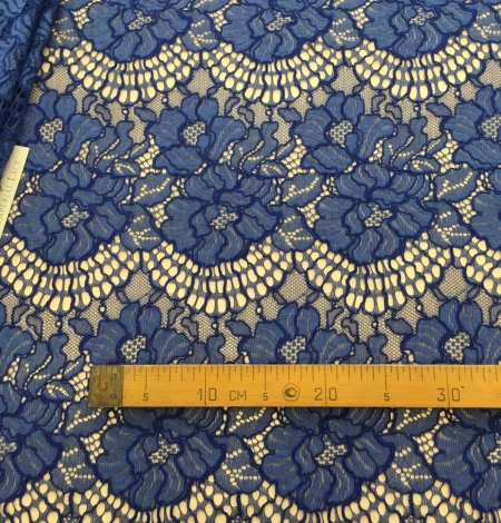 Blue lace fabric. Photo 8