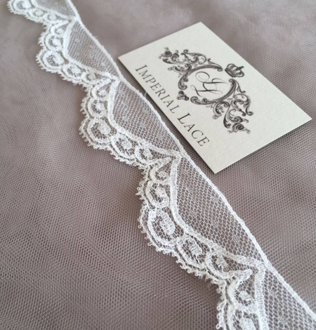 Ivory Chantilly lace trim. Photo 3