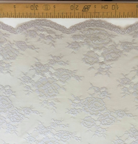 Dark nude lace fabric by the yard. Photo 4