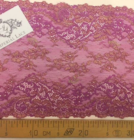 Violet with gold lace trim. Photo 5