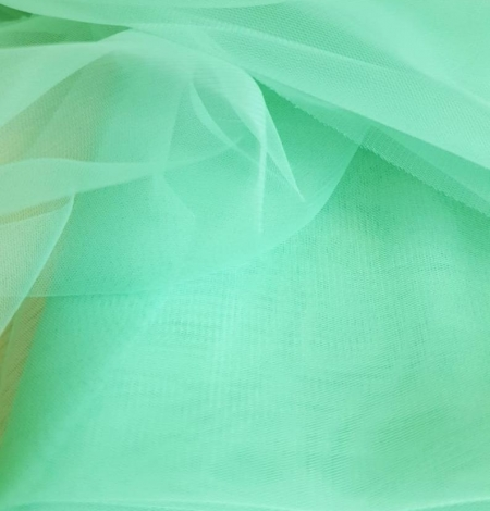 Mint green tulle fabric. Photo 6