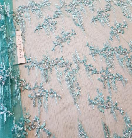 Sea green beaded lace. Photo 4