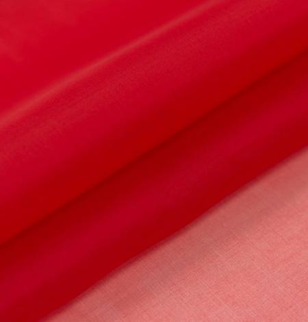 Red silk organza fabric . Photo 4