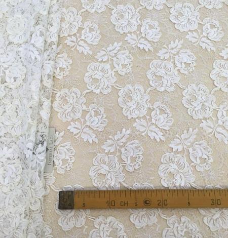 Ivory French lace fabric. Photo 7