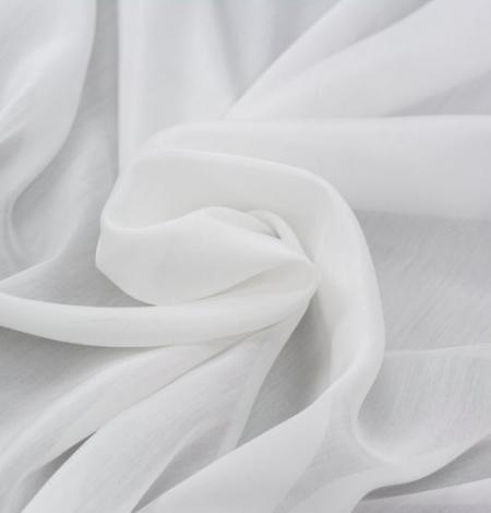 Off white organza chiffon fabric . Photo 5