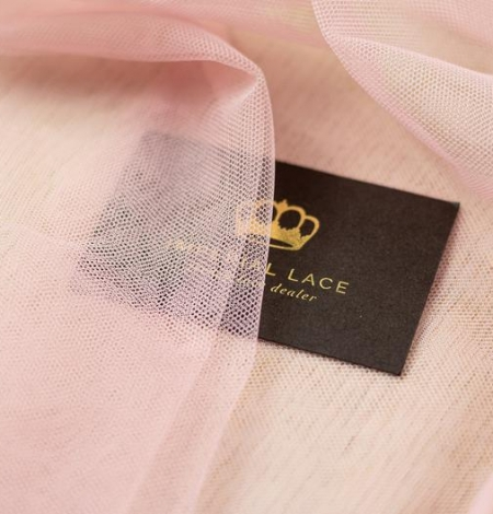 Old rose pinkish soft tulle fabric. Photo 5