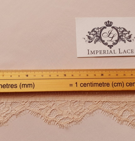Beige chantilly lace trimming. Photo 6