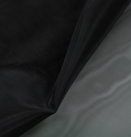 Black crinoline fabric . Photo 4