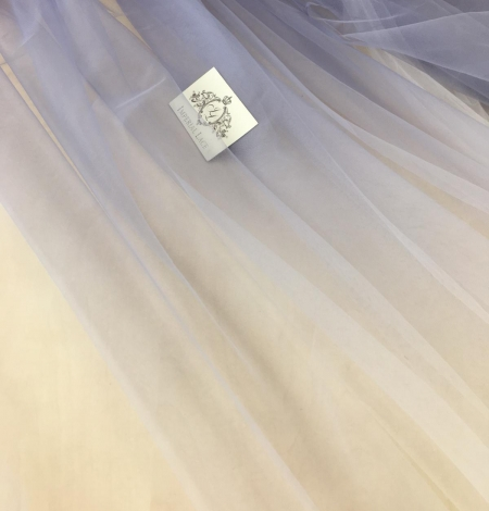 Lilac ombre tulle fabric. Photo 4