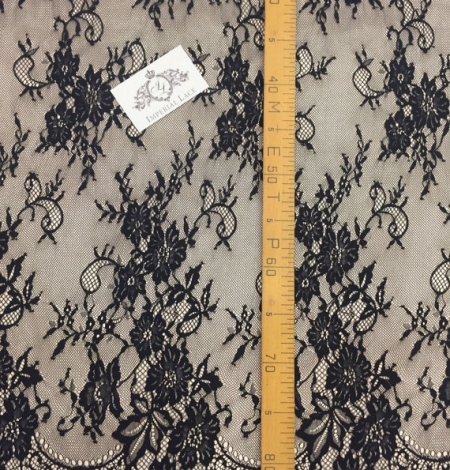 Black lace fabric Chantilly Lace. Photo 5