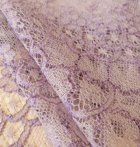 Lilac chantilly cotton lace trimming by Jean Bracq. Photo 4