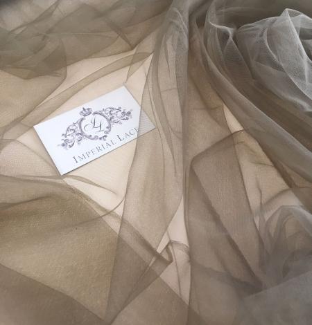 Khaki tulle fabric. Photo 2