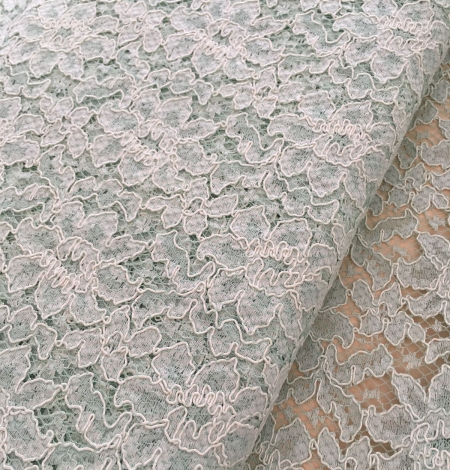 Mint green lace fabric. Photo 5