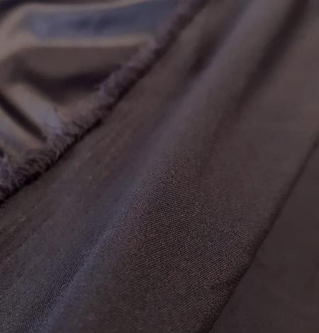 Dark grey satin fabric with elastane. Photo 2