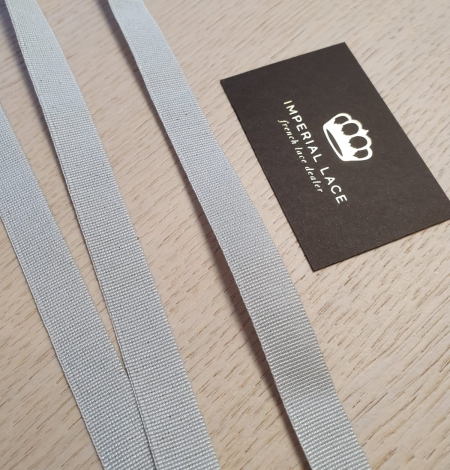 Grey grosgrain viscose ribbon. Photo 9