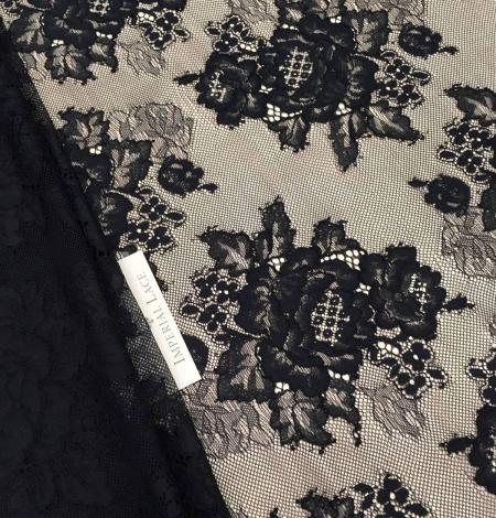 Black lace fabric. Photo 5