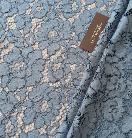 Bluish gray guipure lace fabric. Photo 1