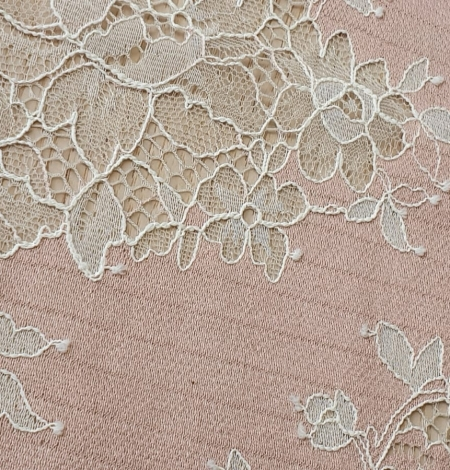 Pink with white flower pattern fabric. Photo 5