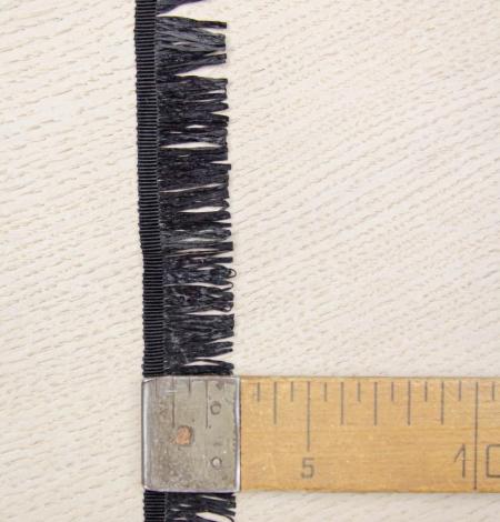 Black grosgrain ribbon with plastic fringes. Photo 5