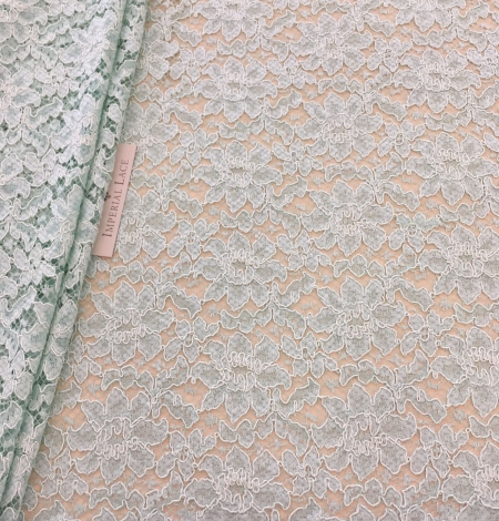 Mint green lace fabric. Photo 3