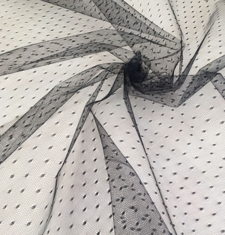 Black tulle fabric. Photo 4