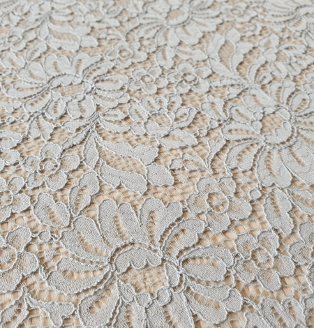 Grey guipure lace fabric. Photo 3