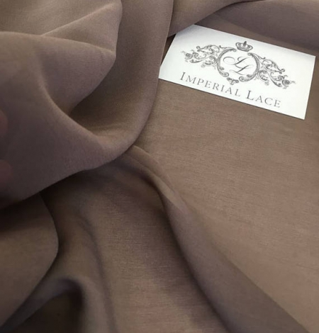 Brown Silk crepe Chiffon . Photo 2