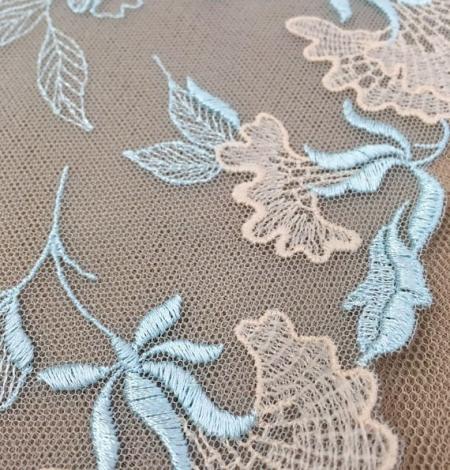 Light blue lace trim. Photo 2