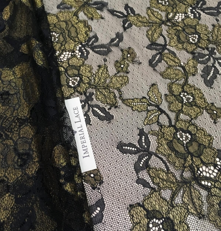 Black with gold lace fabric. Photo 7
