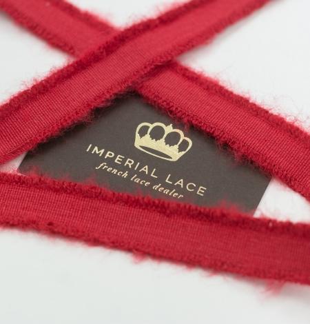 Red lana wool ribbon. Photo 1