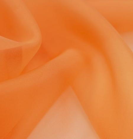 Orange silk organza fabric. Photo 3